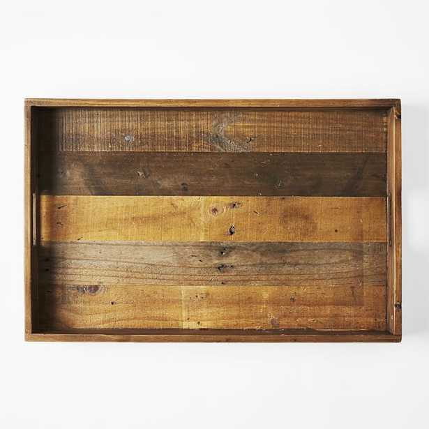 """Reclaimed Wood Tray, Natural, 18""""x28"""" - West Elm"""