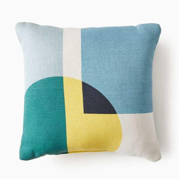 Graphic Shapes Indoor/Outdoor Pillow - West Elm