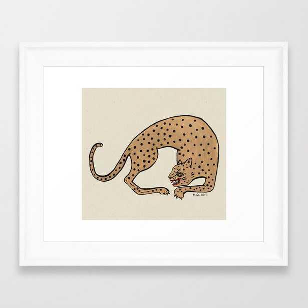 Cheetah Framed Art Print 10 x 12 - scoop white - Society6
