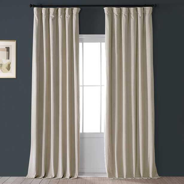 Damarcus Velvet Solid Blackout Thermal Rod Pocket Single Curtain Panel - Wayfair