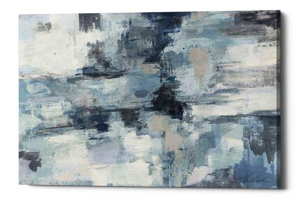 'In the Clouds Indigo and Gray' Acrylic Painting Print on Wrapped Canvas - 40 x 60 - Wayfair