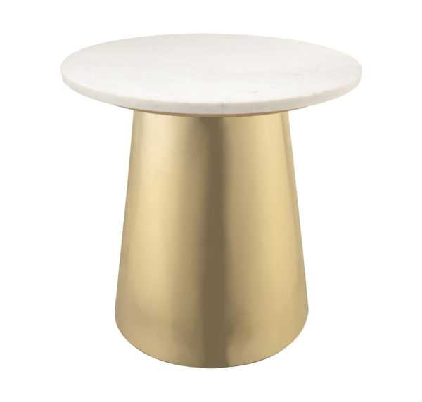 Maddison Marble Side Table - Maren Home