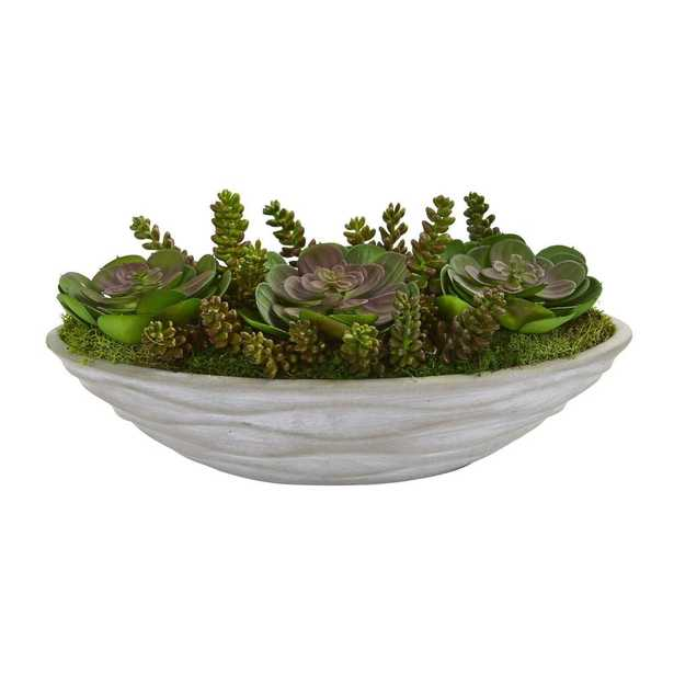 Succulent Garden Artificial Plant - Fiddle + Bloom