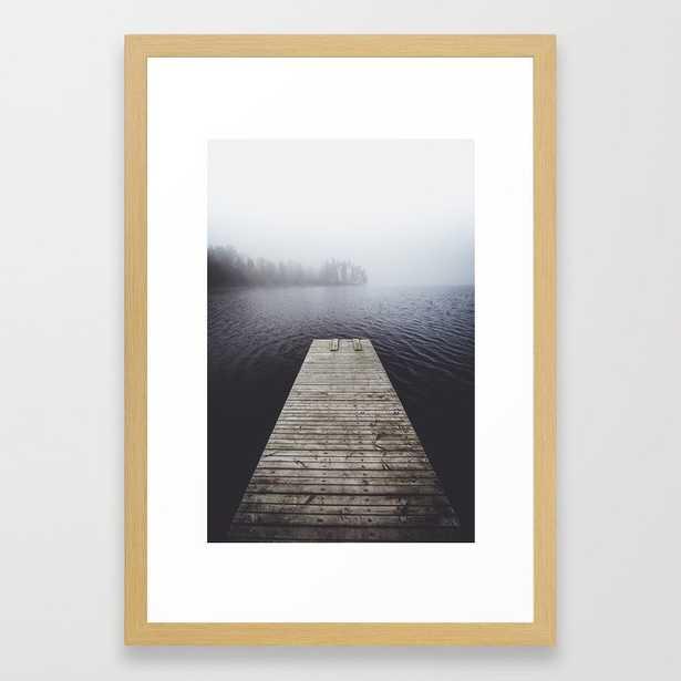 Fading into the mist Framed Art Print, Vector Black, 15 X 21 - Society6