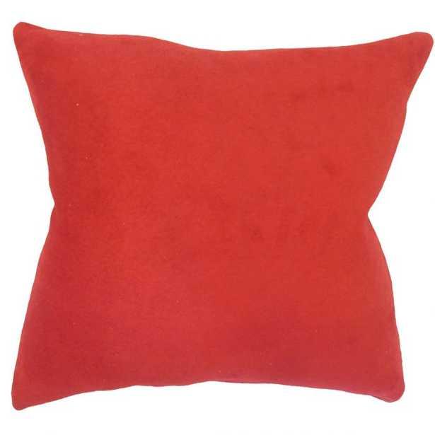 DELBERT SOLID PILLOW RED - Linen & Seam