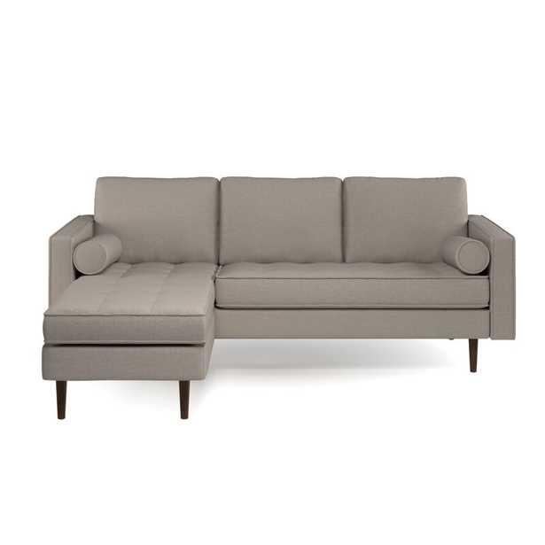"""Kasey 84"""" Wide Velvet Reversible Sofa & Chaise - Wayfair"""