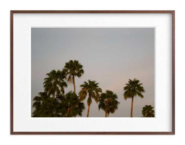 """Fancy Palms - 30"""" x 40"""" Walnut Wood Frame - Minted"""