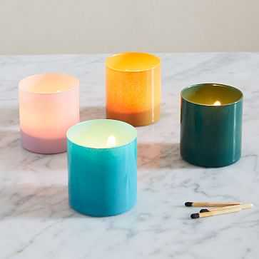 Colored Glass Votives, Small, Multi, Glass, Set of 4 - West Elm