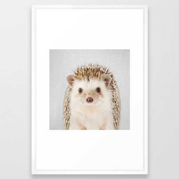 Hedgehog - Colorful Framed Art Print - Society6