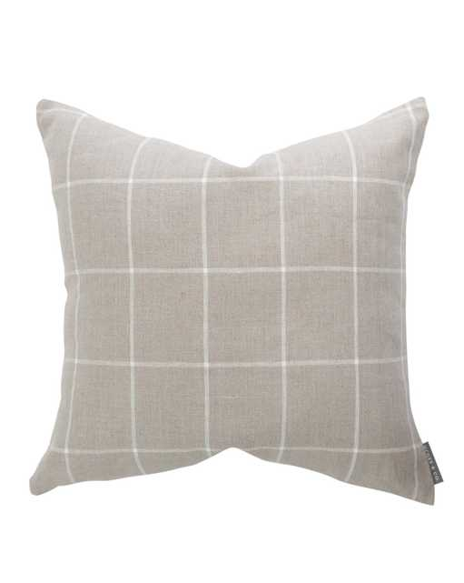 """TAFT PILLOW COVER WITHOUT INSERT, 20"""" x 20"""" - McGee & Co."""