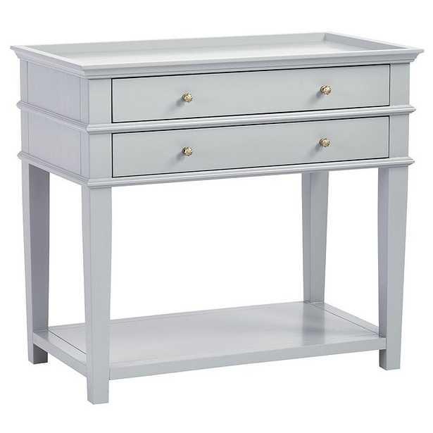 Grace 2 Drawer Open Shelf Side Table - Ballard Designs