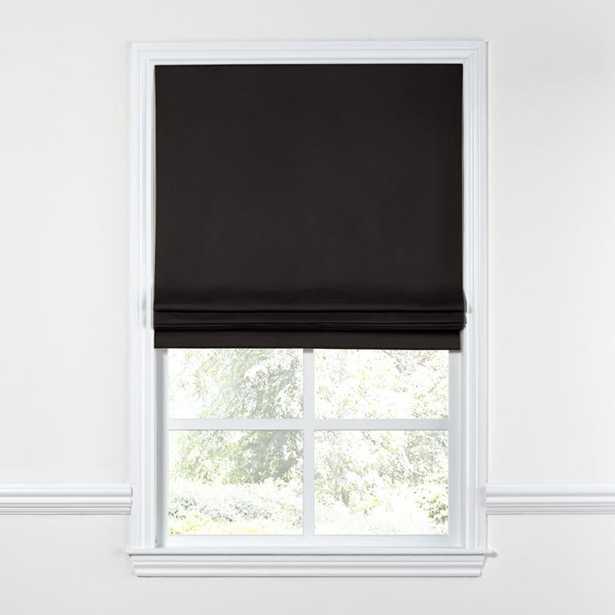 Flat Roman Shade - Sunbrella® Canvas - Black  35x41 - Loom Decor