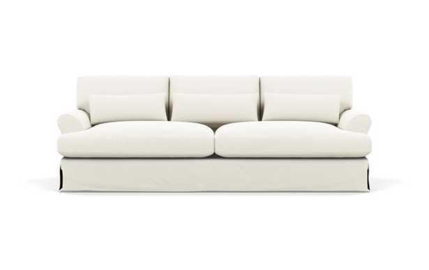 "Maxwell Slipcovered Sofa in Ivory Heavy Cloth 90"" LONG - Interior Define"