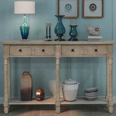 Console Table Sofa Table Easy Assembly With Two Storage Drawers And Bottom Shelf For Entryway, Living Room, Dining Room - Wayfair