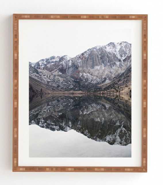 "REFLECTIVE, Framed Art Print, 14"" x 16.5"", Bamboo Frame - Wander Print Co."