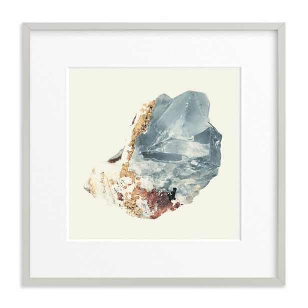 "rock study 2 fluorite - 16""x16"" matted w/ light gray wood frame - Minted"