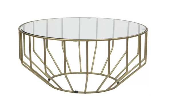 Singer Glass Round Coffee Table - Wayfair