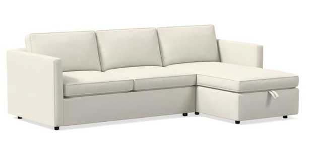 Harris Right 2-Piece Chaise Sectional w/ Storage - West Elm