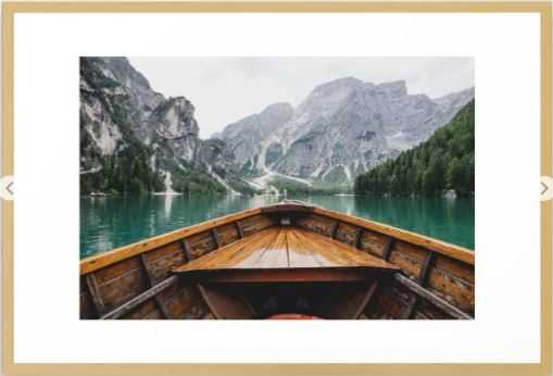 Live the Adventure Framed Art Print - 26x38 - Conservation Natural - Society6