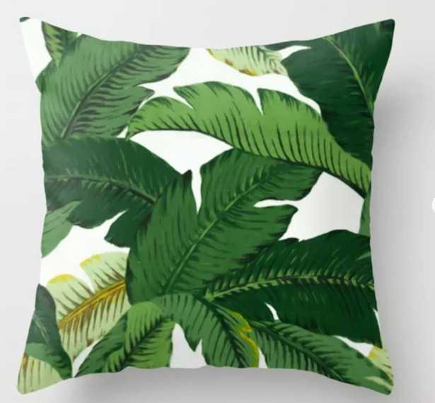 banana leaves Throw Pillow - Society6