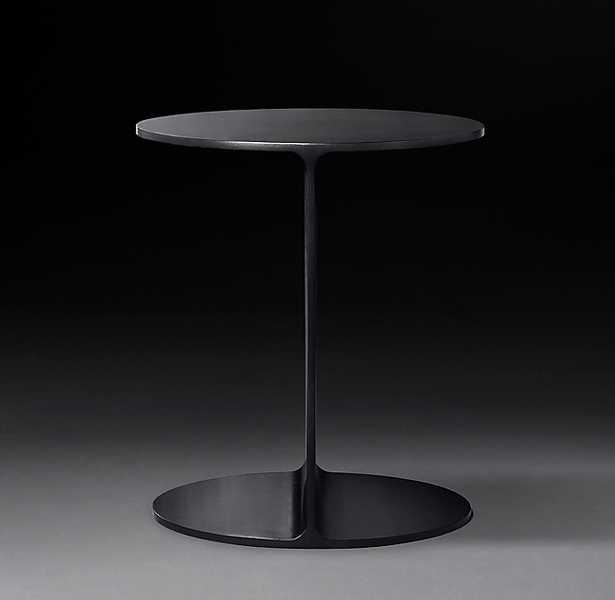 I-BEAM STEEL ROUND SIDE TABLE - RH Modern