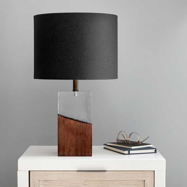 Charred Wood Table Lamp, Clear/Wood - Pottery Barn Teen