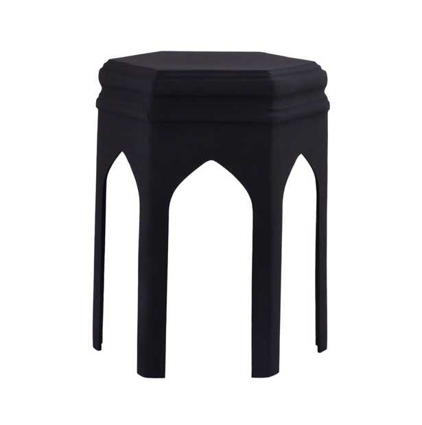 Ryleigh Black Textured Side Table - Maren Home