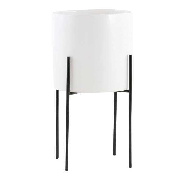 "Terrell Ceramic Pot Planter - 13"" H white - Wayfair"