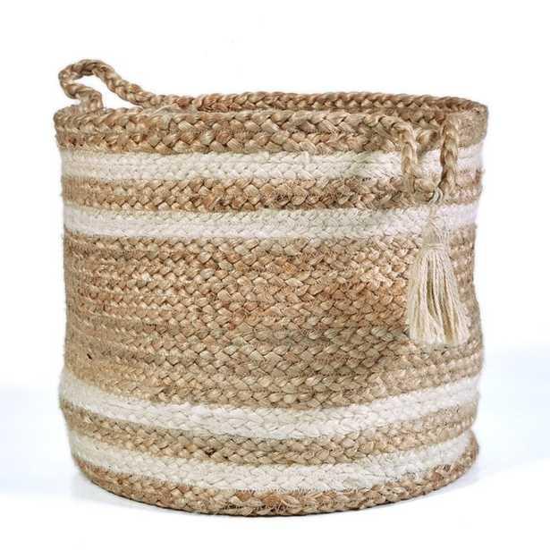 Hand-Crafted Natural Jute Basket - Wayfair