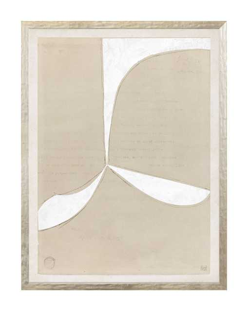 """BEIGE ABSTRACT 3 Framed Art - 13"""" W x 17"""" H - McGee & Co."""