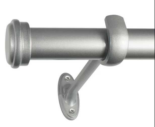 Wayfair Basics End Cap Single Curtain Rod & Hardware Set - Wayfair