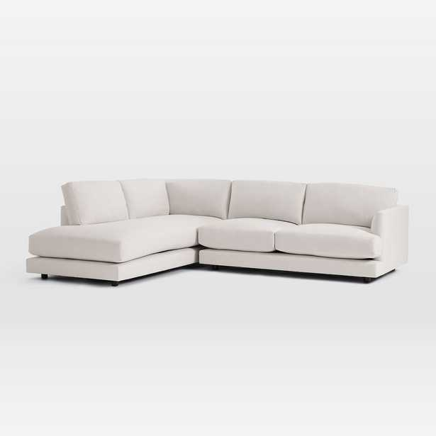 Haven Sectional Set 02, Left Arm Terminal Chaise / Oyster, Eco Weave - West Elm