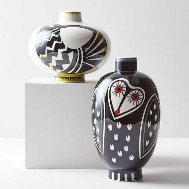 Hand-Painted Bird Vase - West Elm