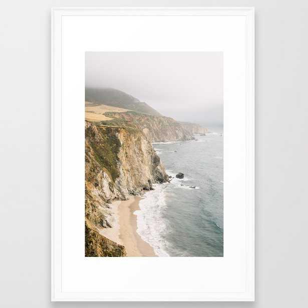 "Big Sur California Framed Art Print - Scoop White 26""x38"" - Society6"