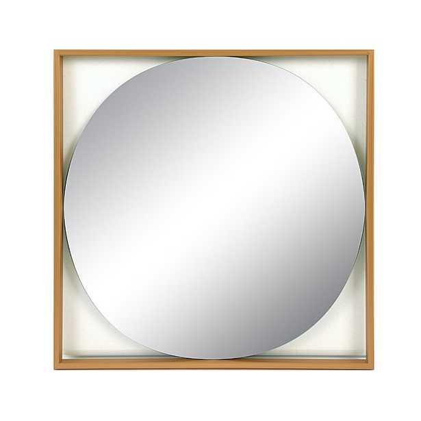 """20-3/8""""H Square Metal Mirror, Gold - Wayfair"""