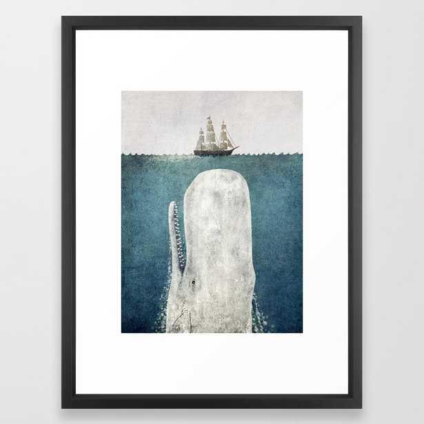 The Whale - vintage Framed Art Print - Society6