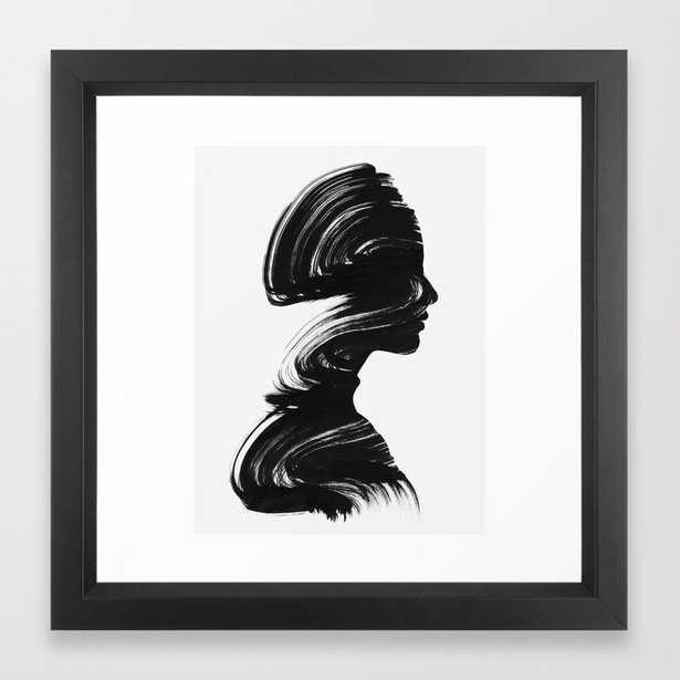 See Framed Art Print - Vector Black - 12 x 12 - Society6