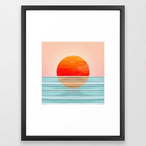 Minimalist Sunset III Framed Art Print by moderntropical - Society6