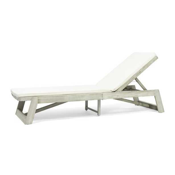 Gavyn Outdoor Reclining Chaise Lounge with Cushion - Wayfair