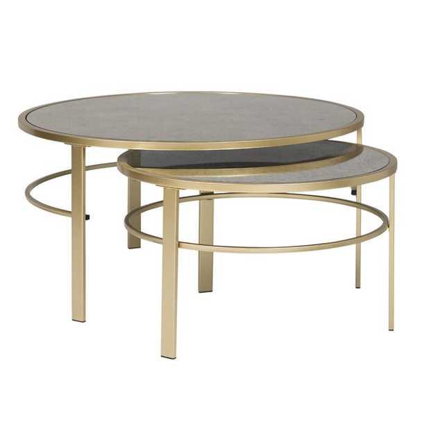 Corbel Round Nesting 2 Piece Coffee Table Set - Wayfair