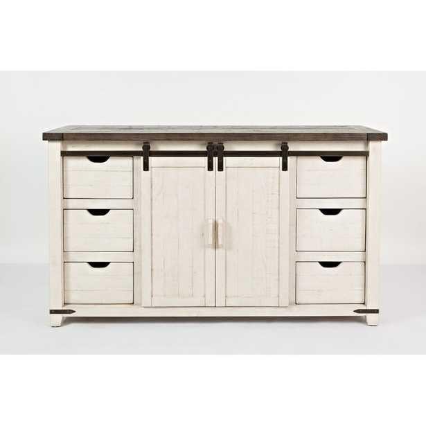 "Westhoff 60"" Wide 6 Drawer Pine Wood Credenza - Wayfair"