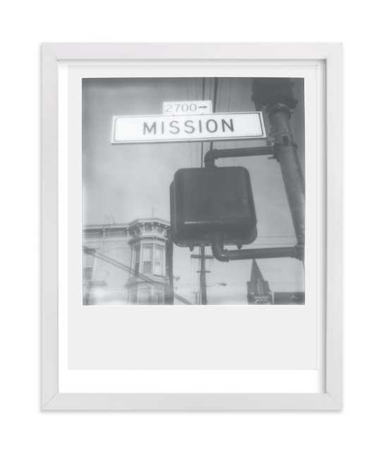 """Mission Street - 8"""" x 10"""", white frame - Minted"""