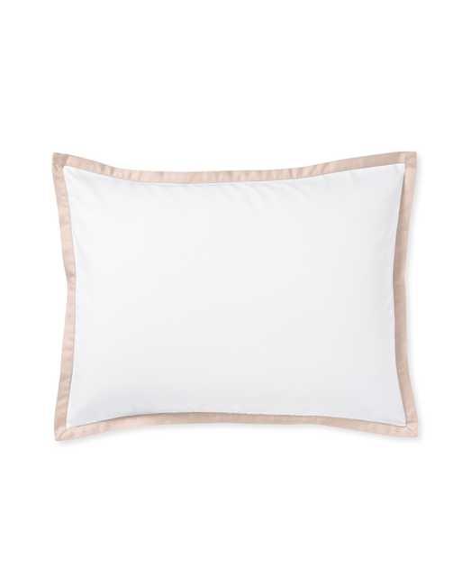 Border Frame Standard Sham - Pink Sand - Insert sold separately - Serena and Lily