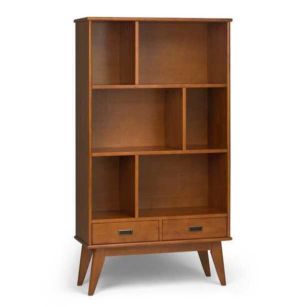 Teak Brown Halvorson Standard Bookcase - Wayfair