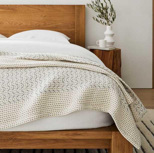 Mixed Herringbone Blanket - West Elm