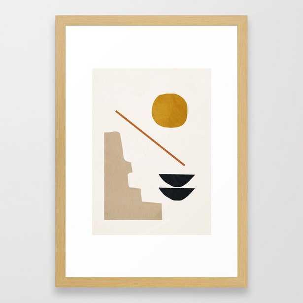 "abstract minimal 6 Framed Art Print - 15"" x 21"", conservation natural - Society6"