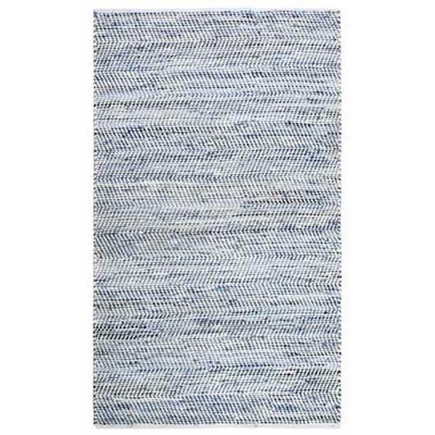 Latour Handwoven Flatweave Cotton Blue Area Rug - Wayfair