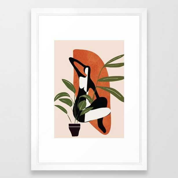 """Abstract Female Figure - 15"""" x 21"""" - vector white - Society6"""