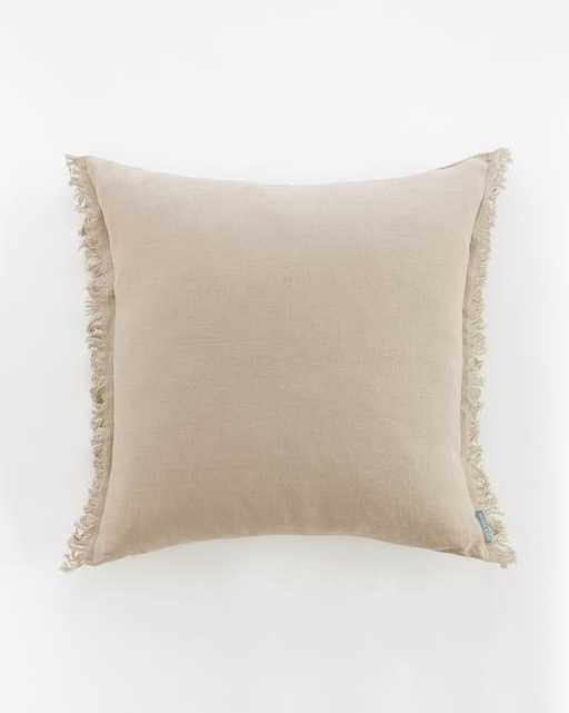 Hazelton Mushroom Fringed Pillow Cover - McGee & Co.