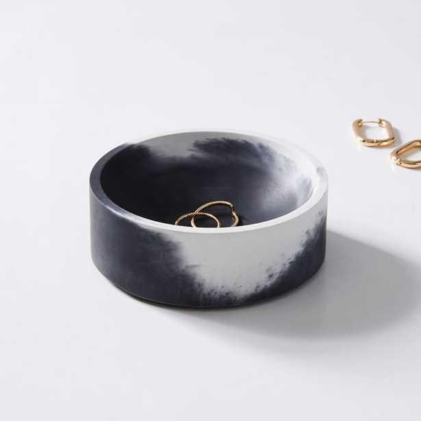 Pretti Cool, Concave Vessel, Black + White - West Elm